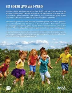 Oproep flyer - Het geheime leven van 4-jarigen